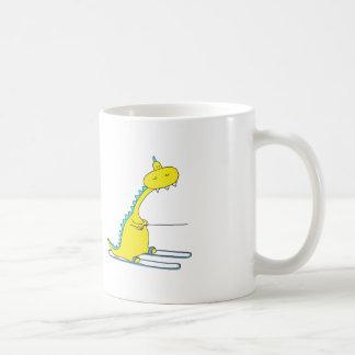 ski dino coffee mug