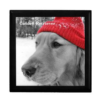 Ski Dog Golden Retriever Jewelry Box