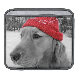 Ski Dog Golden Retriever ipad Sleeve