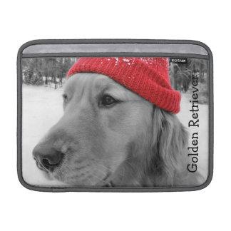 Ski Dog Golden Retriever MacBook Air Sleeve