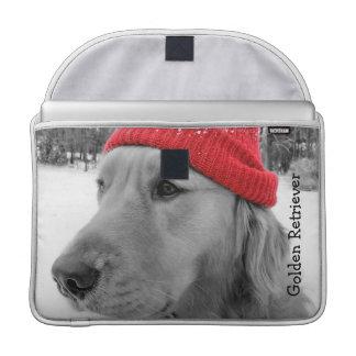Ski Dog Golden Retriever MacBook Pro Sleeve