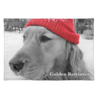 Ski Dog Golden Retriever Place Mats