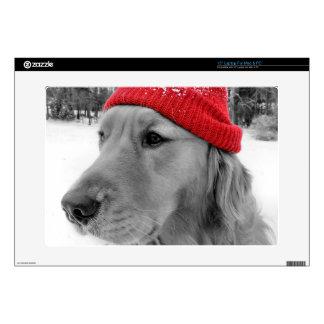 """Ski Dog Golden Retriever Skin For 15"""" Laptop"""