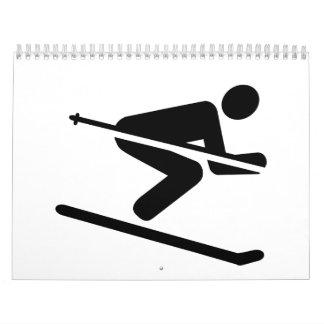 Ski downhill calendars