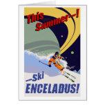Ski Enceladus! Greeting Cards
