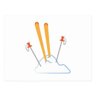 Ski Equipment Postcard