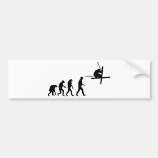 ski evolution icon bumper sticker