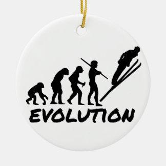 Ski Evolution Christmas Tree Ornament