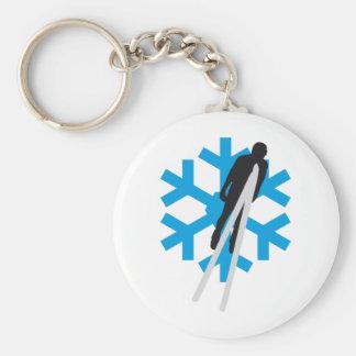 Ski flies B 3c Keychain