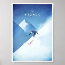 Ski France Vintage Travel Poster