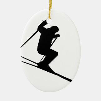 Ski Gear Ceramic Ornament