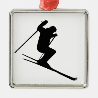 Ski Gear Metal Ornament