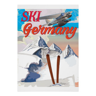 Ski Germany vintage travel poster