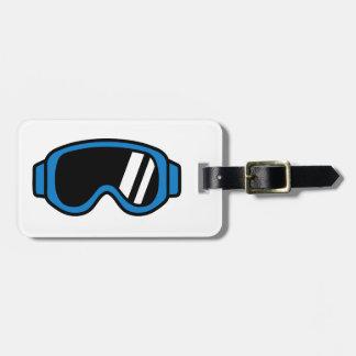 Ski goggles bag tag