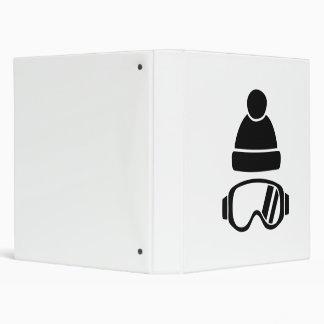 Ski goggles hat binders