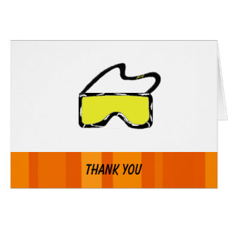 Ski Goggles Thank You Card