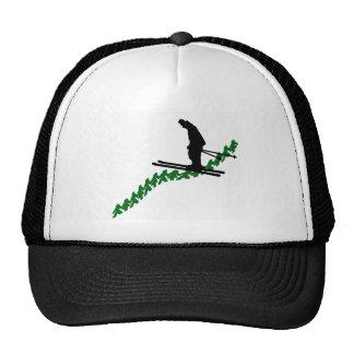 SKI GREEN LINED TRUCKER HAT