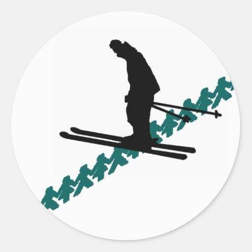 SKI GREEN MOUNTAINS CLASSIC ROUND STICKER