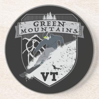 Ski Green Mountains, VT Sandstone Coaster