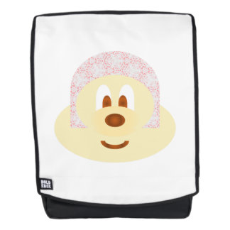 Ski Hat 鮑 鮑 Adult Backpack with White Bg