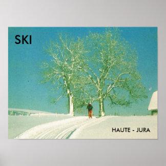Ski Haute Jura, France Poster