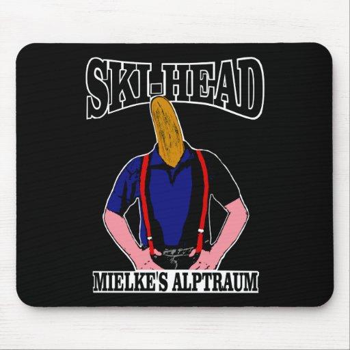 Ski Head - Mielkes nightmare Mouse Pad