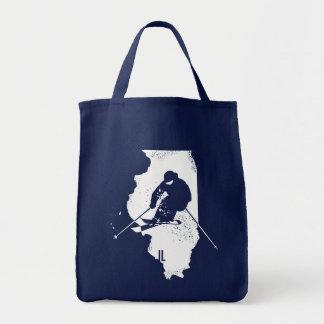 Ski Illinois Tote Bag