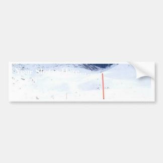 Ski In The Alp Bumper Sticker