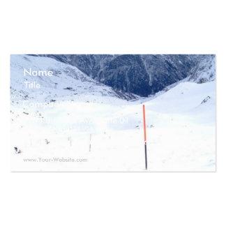 Ski In The Alp Business Card Template