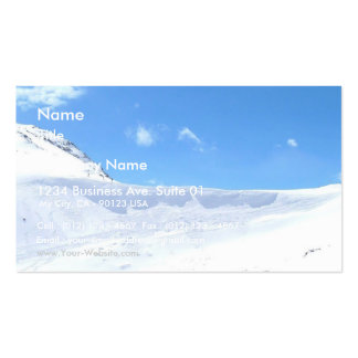 Ski In The Alps On Bright Day Business Card Templates