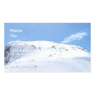 Ski In The Alps On Snow Business Card Template