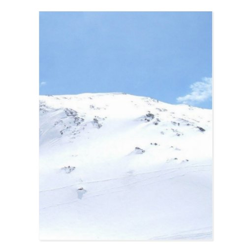 Ski In The Alps On Snow Post Cards