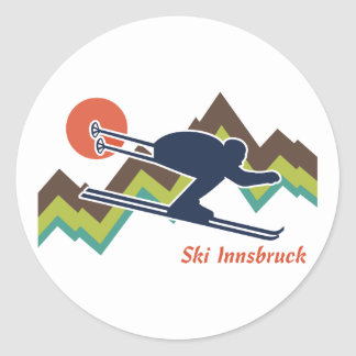 Ski Innsbruck Classic Round Sticker