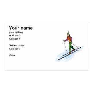 Ski Instructors Business Card