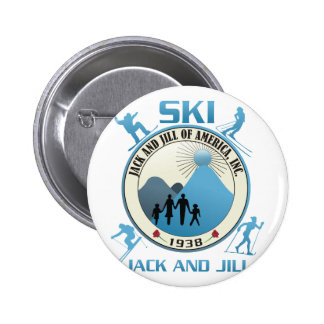 Ski Jack and Jill Blue Stuff Button