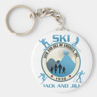 Ski Jack and Jill Blue Stuff Key Chain