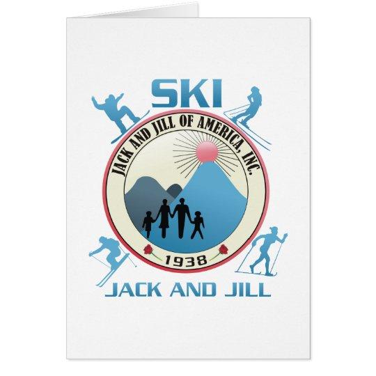 Ski Jack and Jill Pink Stuff Card
