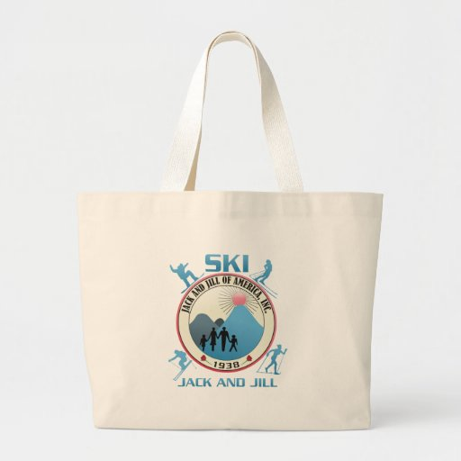 Ski Jack and Jill Pink Stuff Large Tote Bag