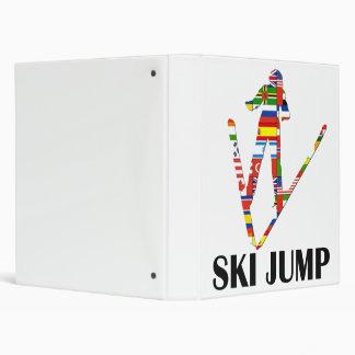 Ski Jump 3 Ring Binder