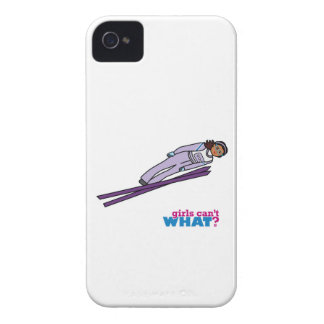 Ski Jump Girl - Dark iPhone 4 Cases