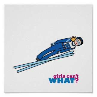 Ski Jump Girl - Light/Blonde Poster