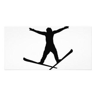 ski jump icon card