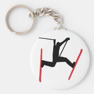 ski jump icon keychain