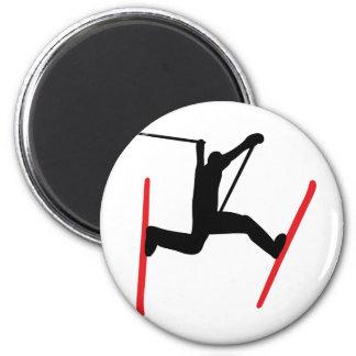 ski jump icon refrigerator magnets