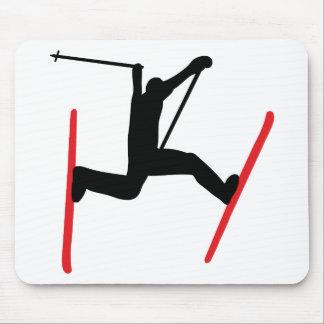 ski jump icon mousepad