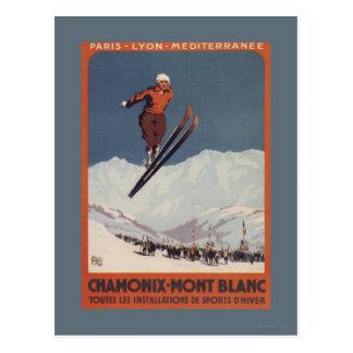 Ski Jump - PLM Olympic Promo Poster Postcard