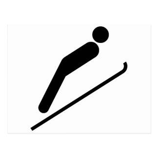 Ski Jump Postcard