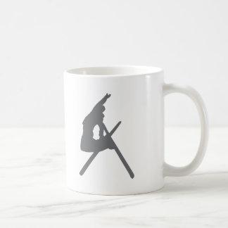 ski jump skier jumper classic white coffee mug