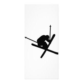 ski jump skiing personalized rack card