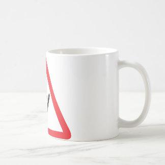 ski jump warning sign classic white coffee mug
